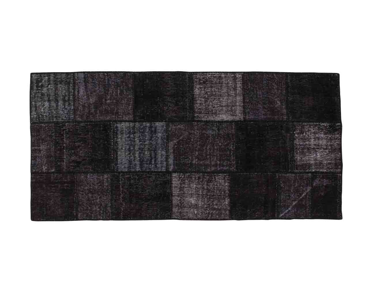 Black overdyed patchwork Hiranur 170cm x 130cm OUTLET