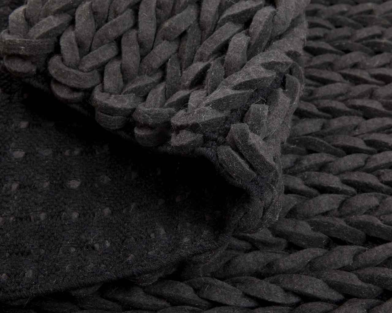 beautiful black felted wool carpets 1