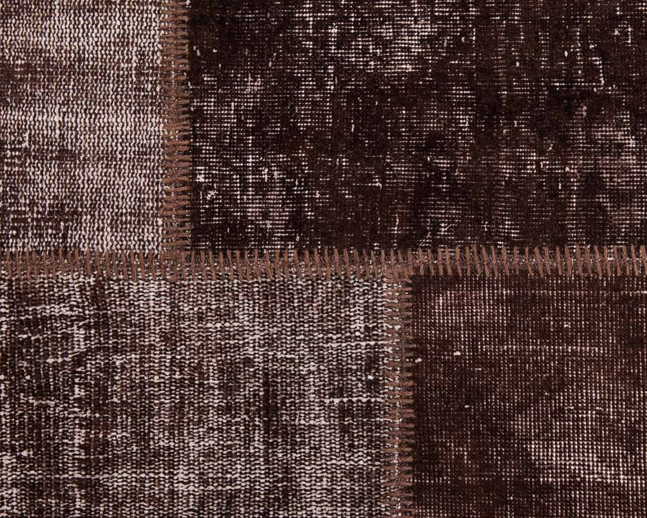custom vintage patchwork carpet brown