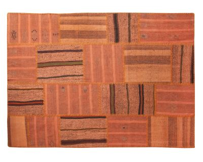 Orange kelim patchwork 170cm x 240cm OUTLET