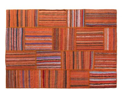 Orange caput patchwork 170cm x 240cm OUTLET