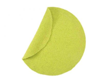 Custom felt ball rug apple-green 140cm OUTLET