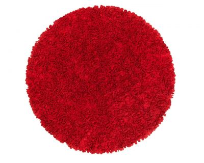 Custom cut felt rug round red 160cm
