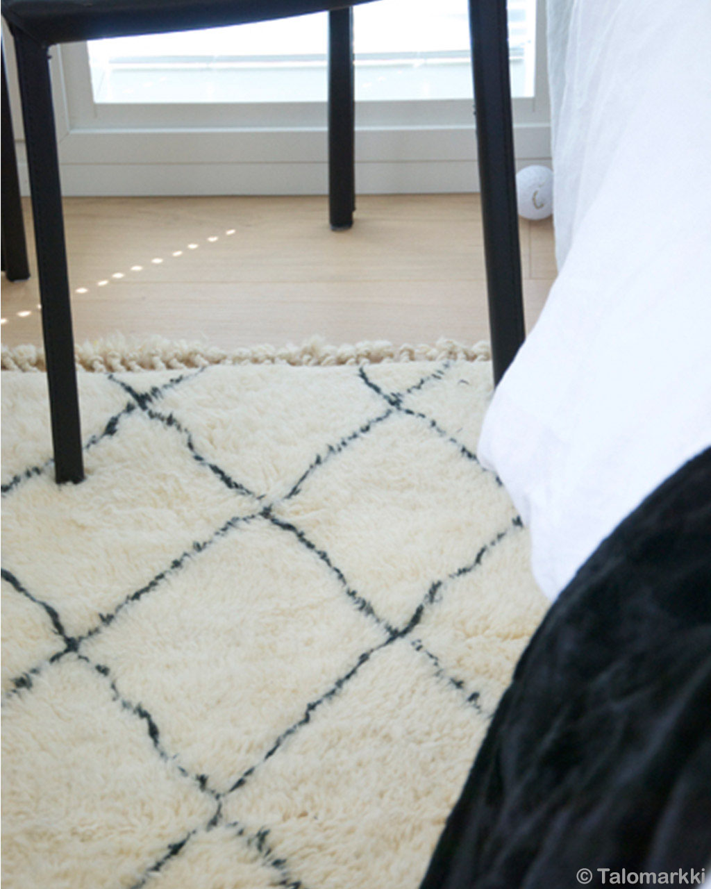 hand knotted black legs of chair morocco beni ourain rugs
