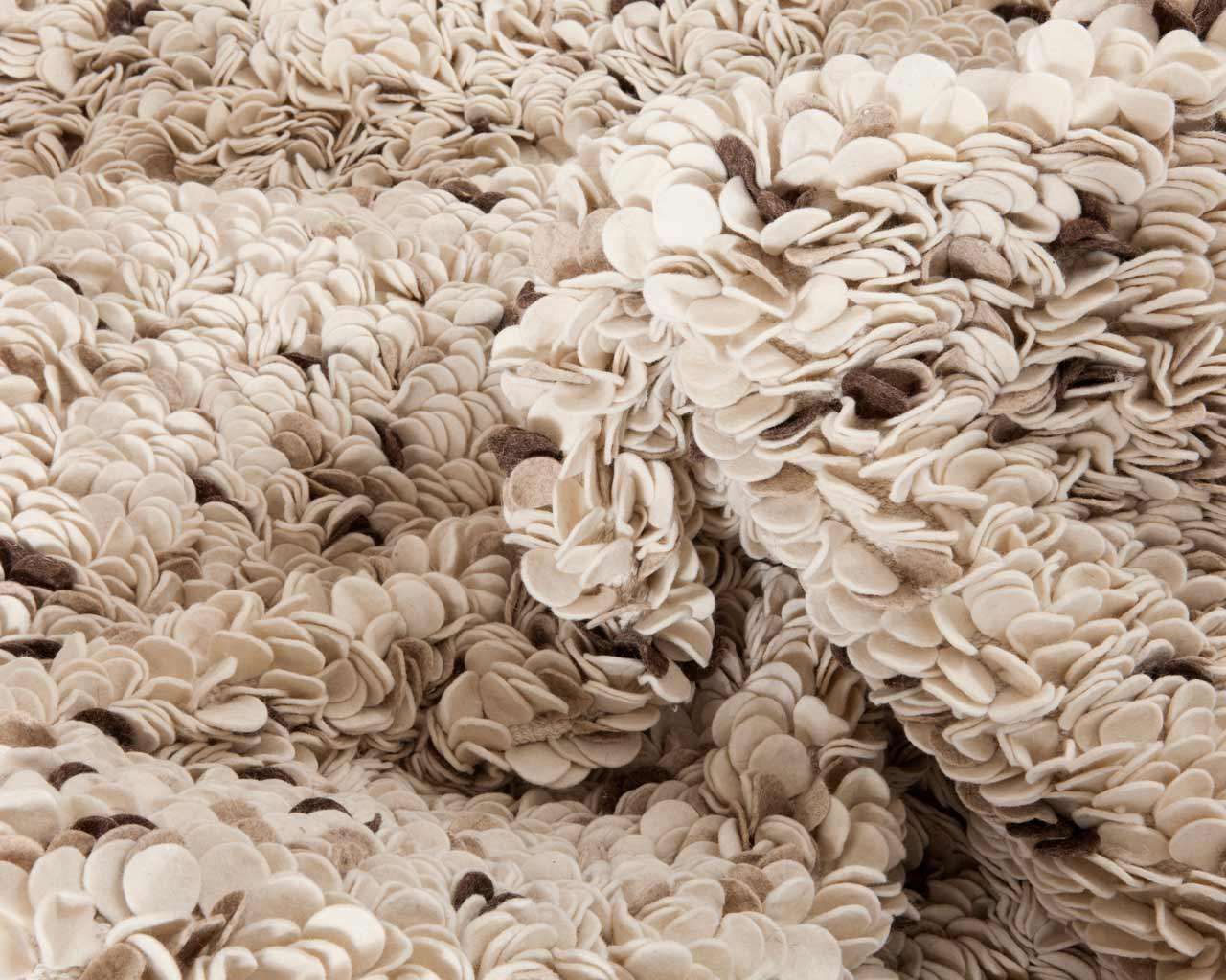 touch felted wool natural carpet beige