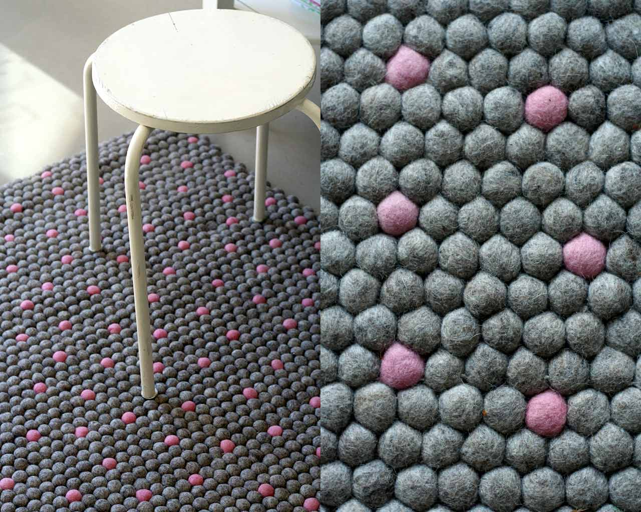 lila gray rug design