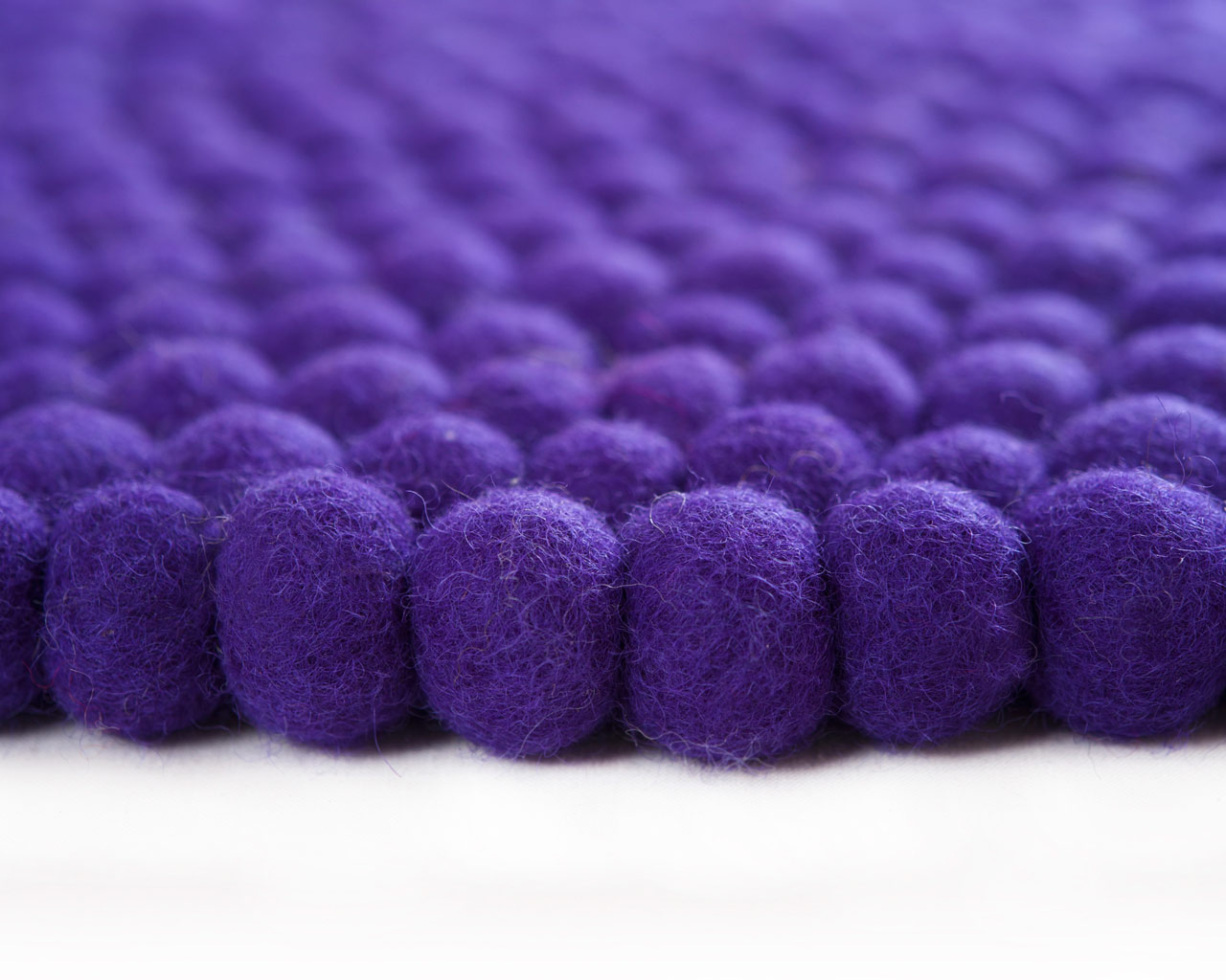 purple blue round carpet wool nepal