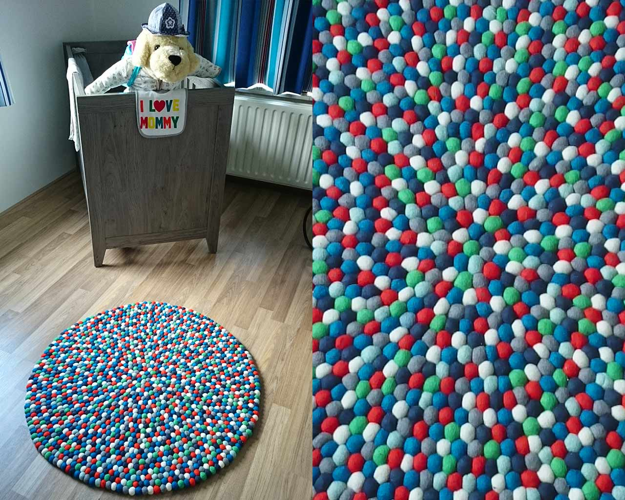 sweet toy rug wooden floor