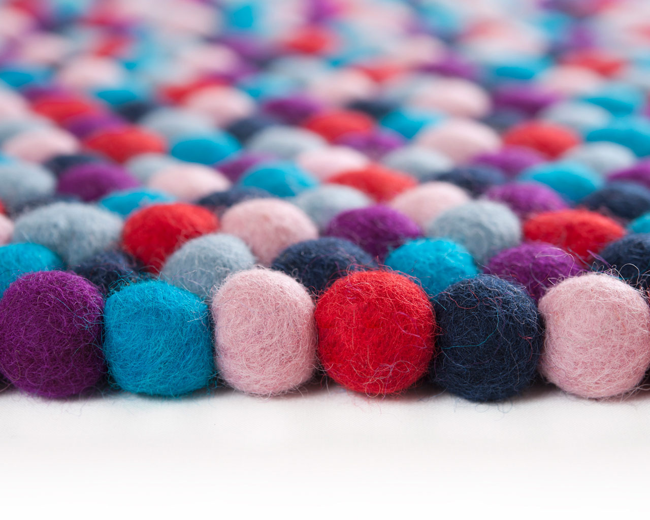 various colours personal felted woolen carpet