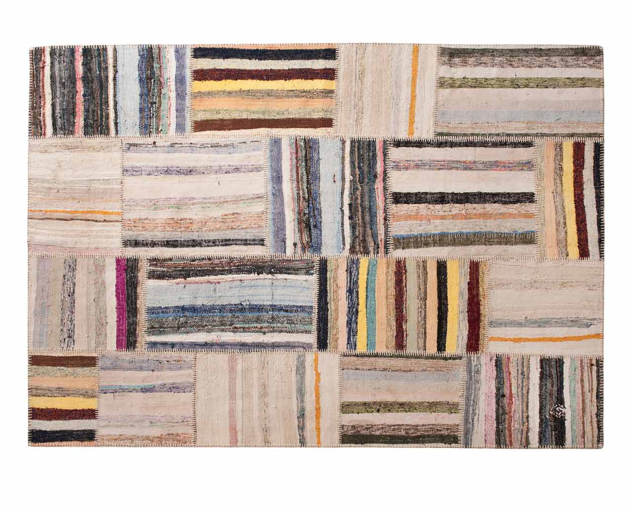 rectangle caput patchworks undyed white vintage rug sukhi