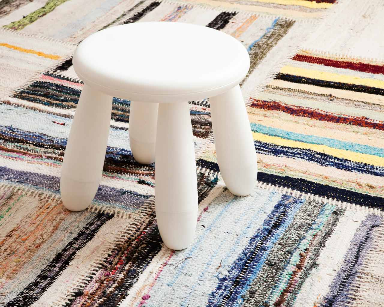 white stool ethnic undyed caput living room area rug sukhi