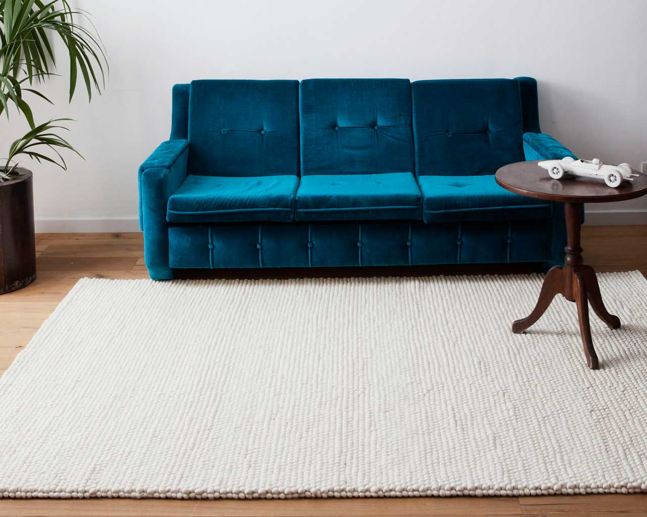 spectacularly beautiful white woollen rugs