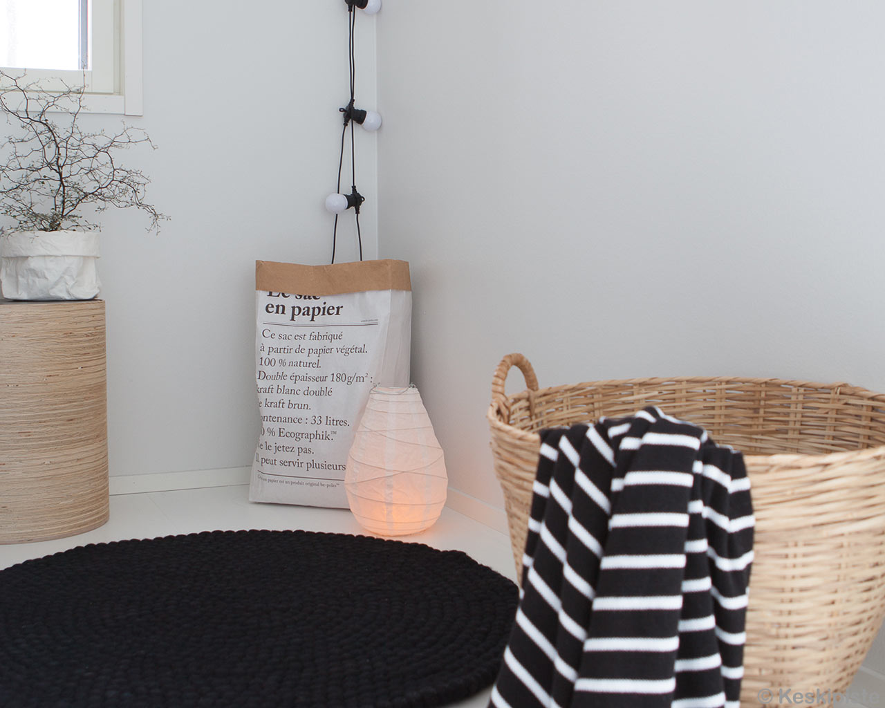 lamp wicker basket laundry rugs black 1