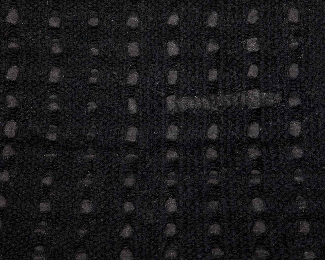 modern carpet black wool 1