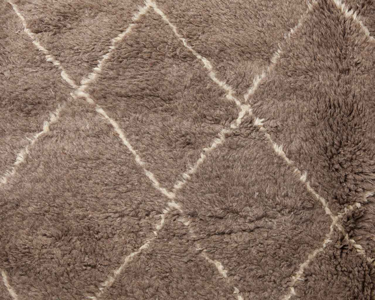 moroccan style berber carpets sheep wool brown 1