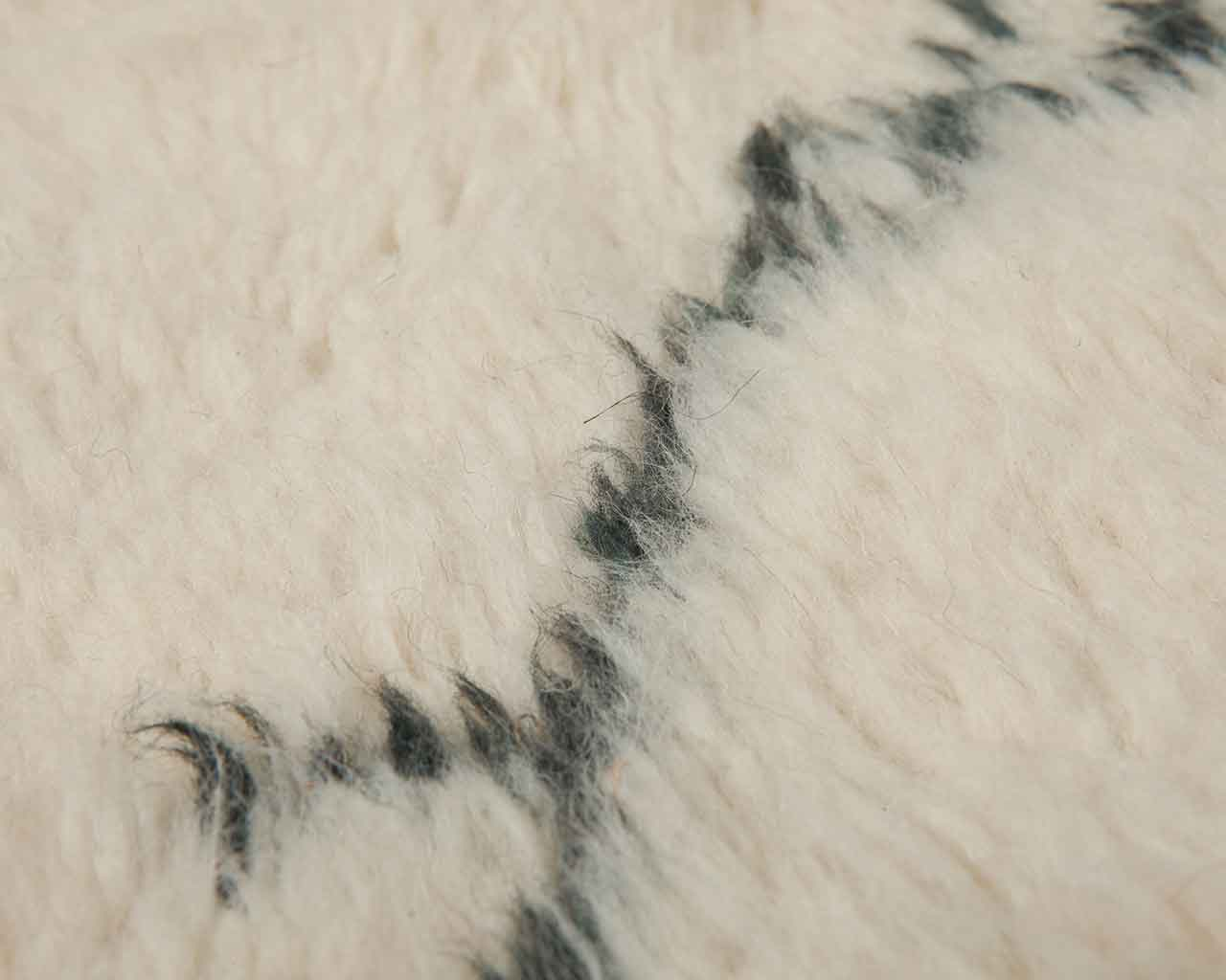 soft high pile wool carpet handknotted white black berbers 1