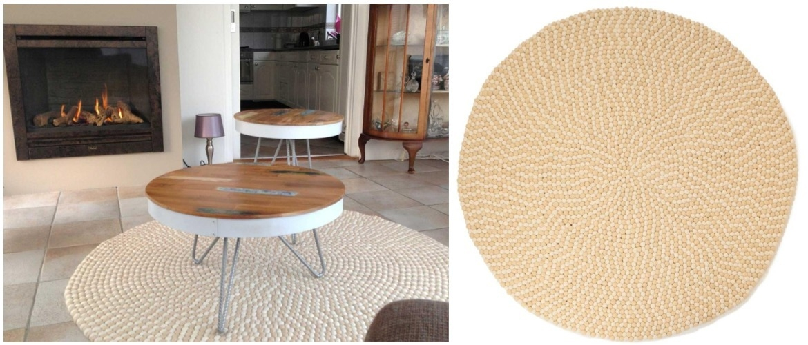 round-beige-felt-ball-rug-on-tile-flooring